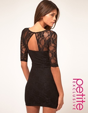 ASOS PETITE Exclusive Lace Dress with Cut Out Back Detail $62.67