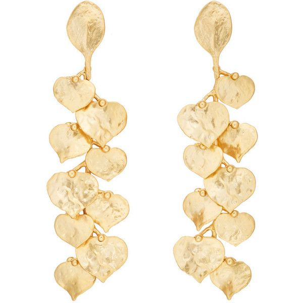 Kenneth Jay Lane Women's Branch & Leaves Drop Earrings ($79) ❤ liked on Polyvore featuring jewelry, earrings, gold, leaf jewelry, kenneth jay lane, leaves earrings, long post earrings and post earrings