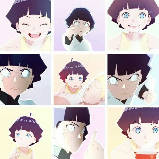 The faces of Himawari #Naruto