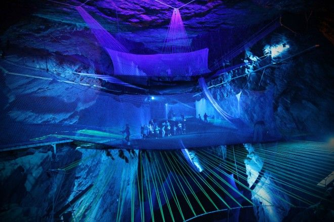 A giant underground trampoline has opened in a cave in Wales - Rough Guides editor Rachel Mills goes deep underground in the heart of Snowdonia National Park to discover the latest, and craziest, adventure activity in North Wales.    A Victorian slate mine close to the town of Blaenau …