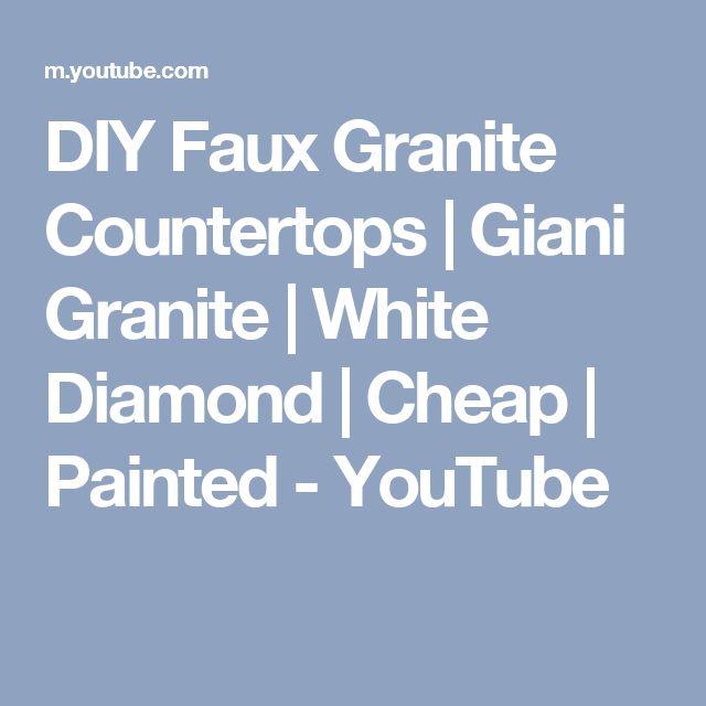 DIY Faux Granite Countertops   Giani Granite   White Diamond   Cheap   Painted - YouTube
