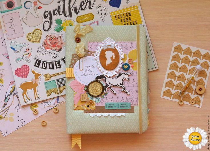 Купить Дневник для девочки - салатовый, дневник, дневник ручной работы, дневник на заказ, альбом
