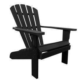 Shine Company Westport Black Composite Patio Adirondack Chair 7617Bk