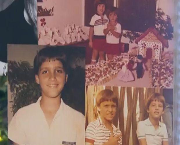 Victor e Leo mostram fotos da infância e relembram momentos em família
