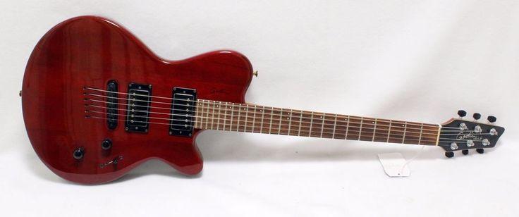 Godin LG HMB Electric Guitar Dark Trans Red Cutaway Low Cost Inexpensive #Godin