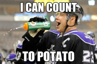 Oh hockey humor. Poor Brown. I still love you (less than Quick).