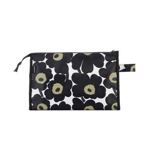 Marimekko Mini-Unikko Black Media Cosmetic Bag $62.00