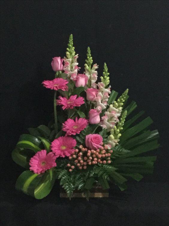 Tons de rosa e folhas...