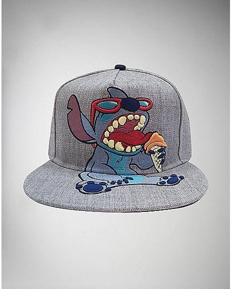 Embroidered Stitch Lilo & Stitch Snapback Hat - Spencer's