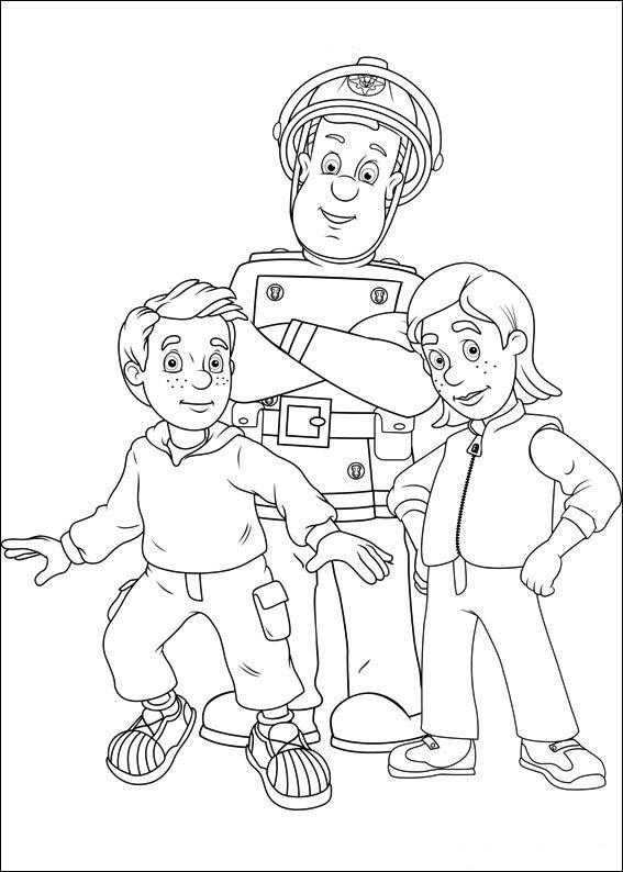 Feuerwehrmann Sam 46 Ausmalbilder Für Kinder Malvorlagen