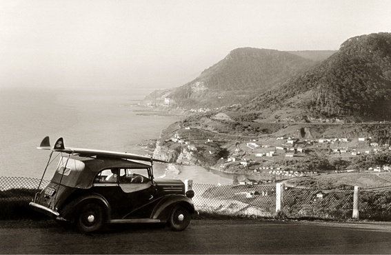 Stanwell Park ocean view from the escarpment - vintage