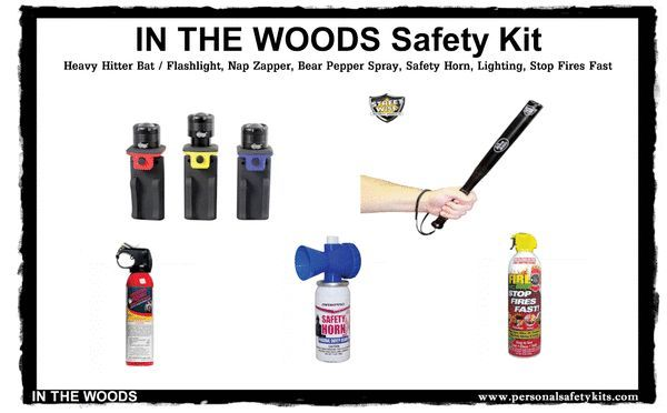 """""""In The Woods"""" Camping Safety Kit   #panicalarm #stundevices #selfdefence #stungun #peppersprayselfdefense #stunbaton #selfdefense #pepperspray"""