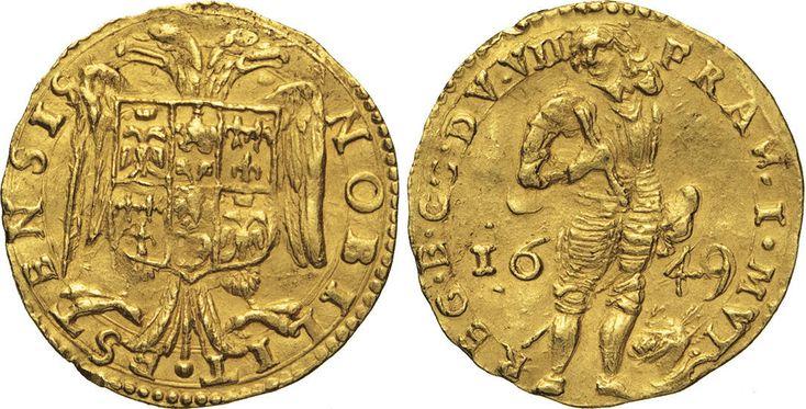 NumisBids: Numismatica Varesi s.a.s. Auction 65, Lot 448 : MODENA - FRANCESCO I D'ESTE (1629-1658) Ongaro 1649. D/ Il Duca...