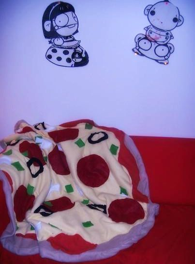 Supreme Pizza Huge Throw Blanket on Etsy, $99.99