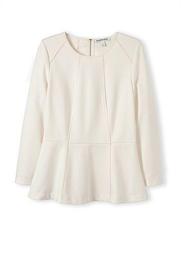 Fold Peplum T-Shirt