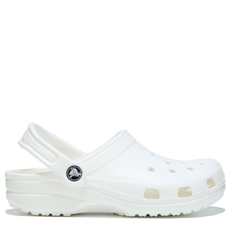 Crocs Women's Classic Clog Shoes (White) - 11.0 M