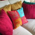 bright pillows.