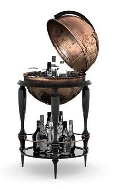 Globe Bar Cart I Love Skymall