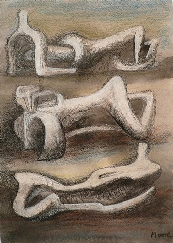 Henry Moore, Three reclining figures