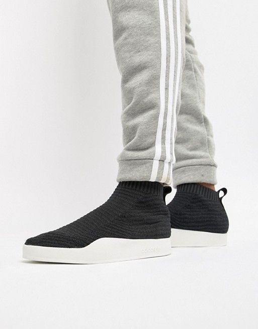 a5e942b9dacd77 adidas Originals Adilette Primeknit Sock Summer Sneakers In Black CQ3102
