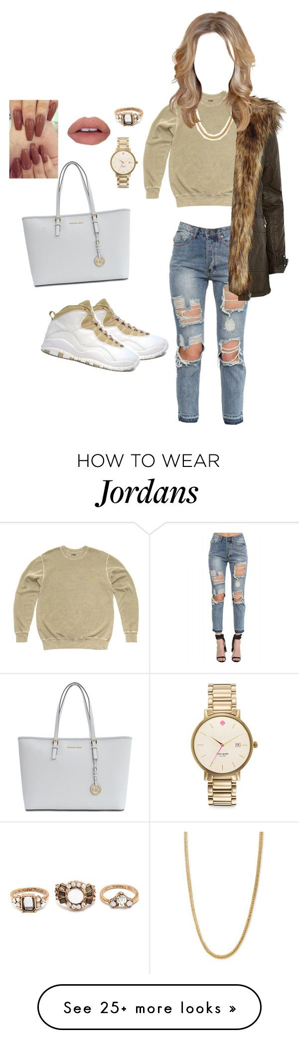 """Feeling this style"" by gabrielabeato on Polyvore featuring Retrò, October's Very Own, Kate Spade, Forever 21, River Island and Michael Kors"