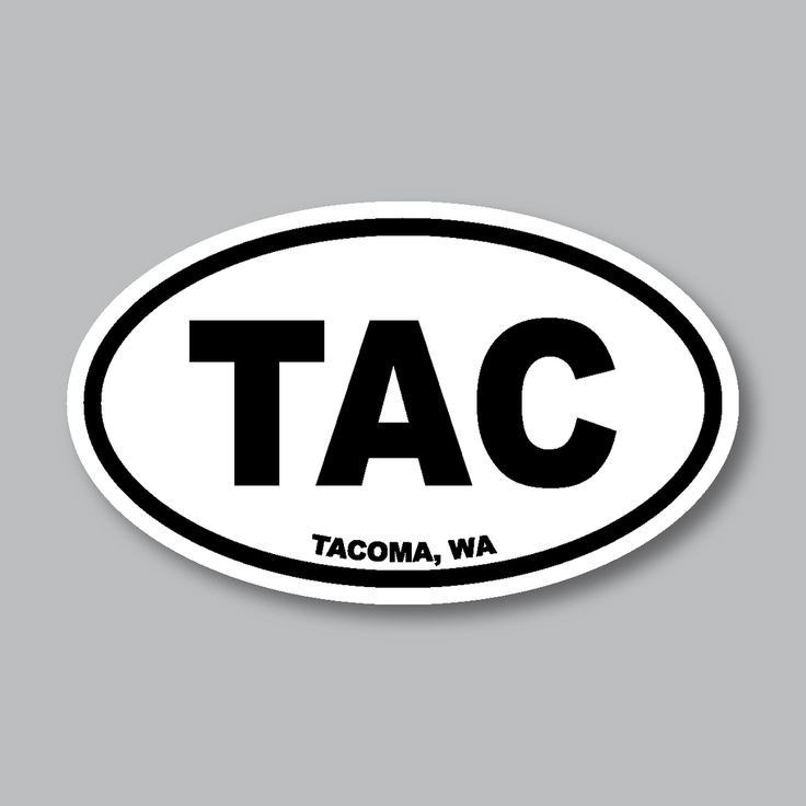 Tacoma wa euro sticker