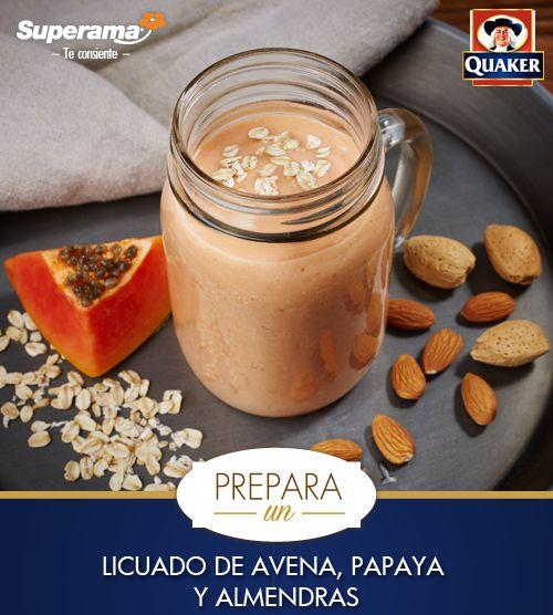 Porque el desayuno es la parte más importante del día, Quaker® te dice cómo preparar un rico licuado de avena, papaya y almendras. ¡Disfrútalo!