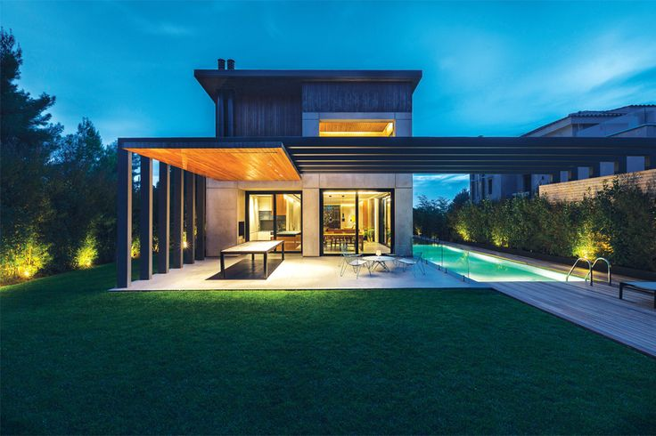 Woodwing Villa | a Private Residence in Ekali | designed by K-studio, Vois architects #architecture #interior_design #ek_magazine