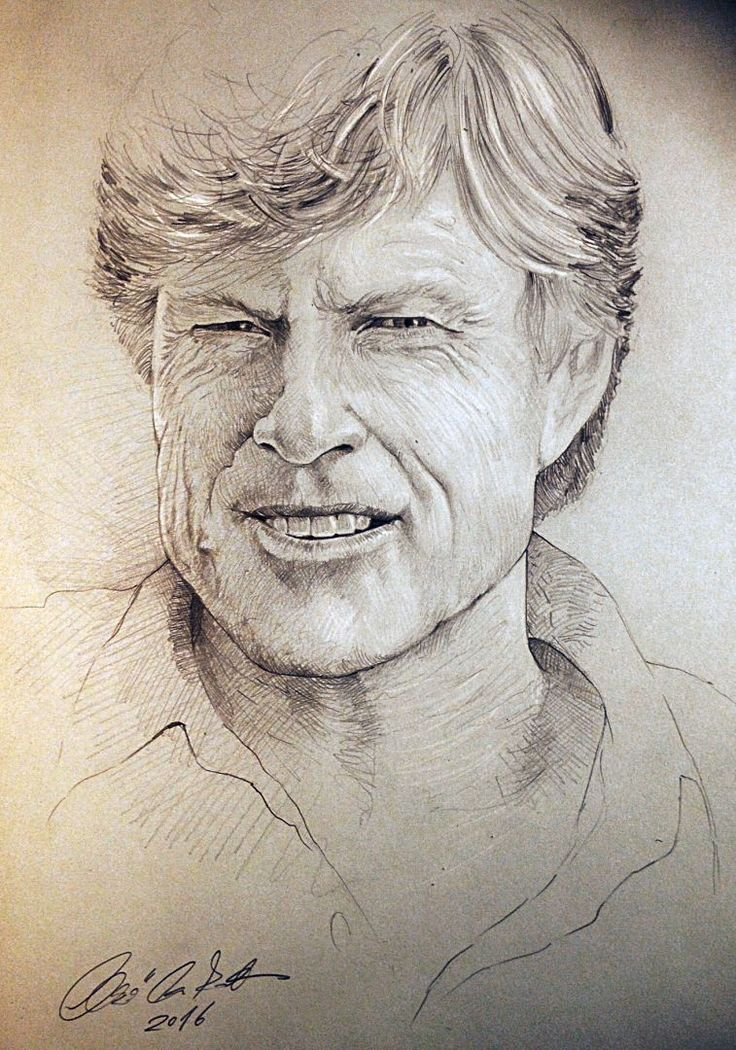 Robert Redford portrait - pencil drawing