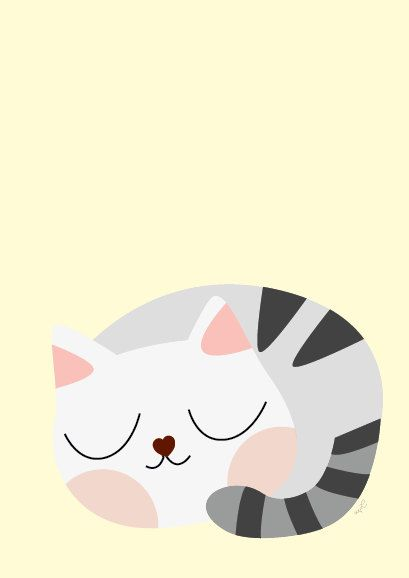Baby Tabby Cat Sleeping Poster Modern Animal by Sealandfriends, $10.50