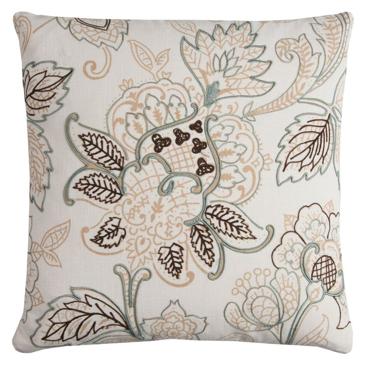 Rizzy Home Subtle Floral Damask Decorative Pillow - PILT11615NTIV2020