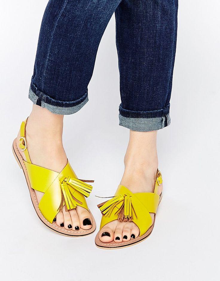 ASOS FOXTROT Leather Tassel Sandals