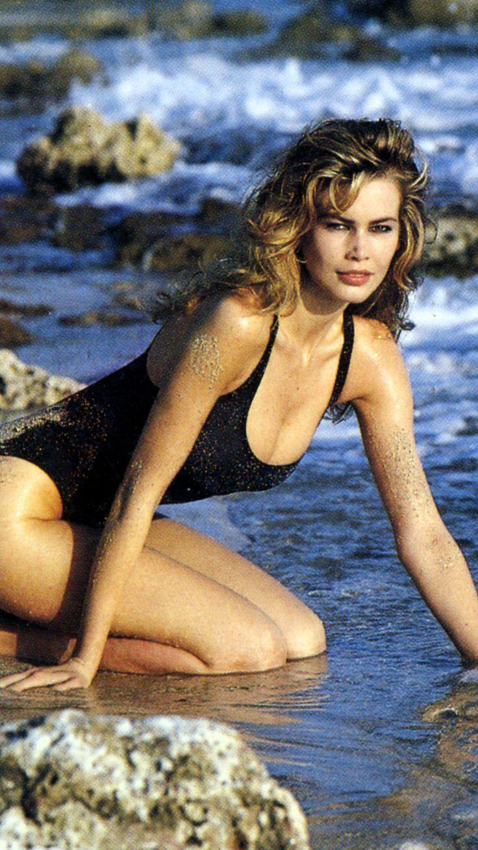 Claudia Schiffer   Claudia in swimsuit   Swimwear, Claudia ...