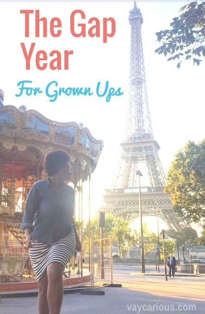 Make 2017 the year you take that Bucket List trip of a lifetime! Travel isn't just for the young and old. Take an adult gap year now. This post shows ways and tips to make long term travel a reality. http://vaycarious.com/2016/11/12/gap-year-for-grown-ups/