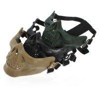 35% OFF Adjustable Half Face Skeleton Skull Protect Mask for Motorcycle Ski - Online Shop! : Online Shop!