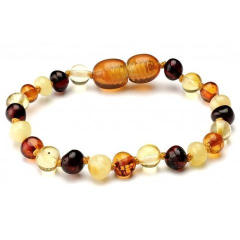 10 Pieces Amber Teething Bracelets Multicolour BBM4 WS