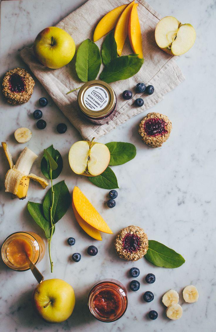 Recept voor suikervrije koekjes met Yespers fruitspread. Vegan en zonder suiker. Review + recept.
