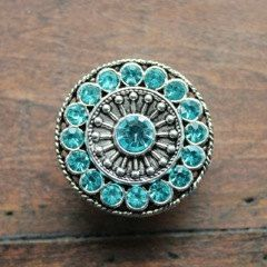 Crystal Drawer Knobs - Furniture Knobs with Aqua Glass Crystals (MK113) in Silver by DaRosa on Etsy