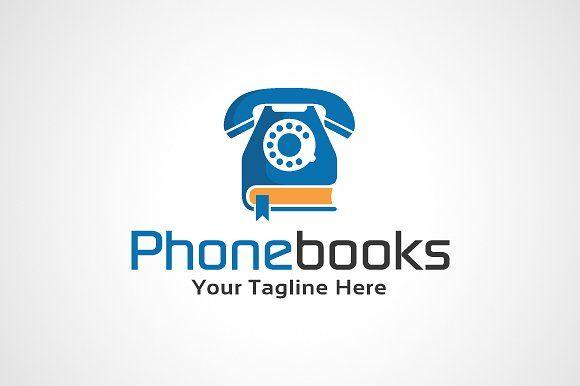 Phone Books Logo Template by gunaonedesign on @creativemarket