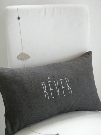 Image of Coussin lin lavé REVER (CSS1REVERGR)