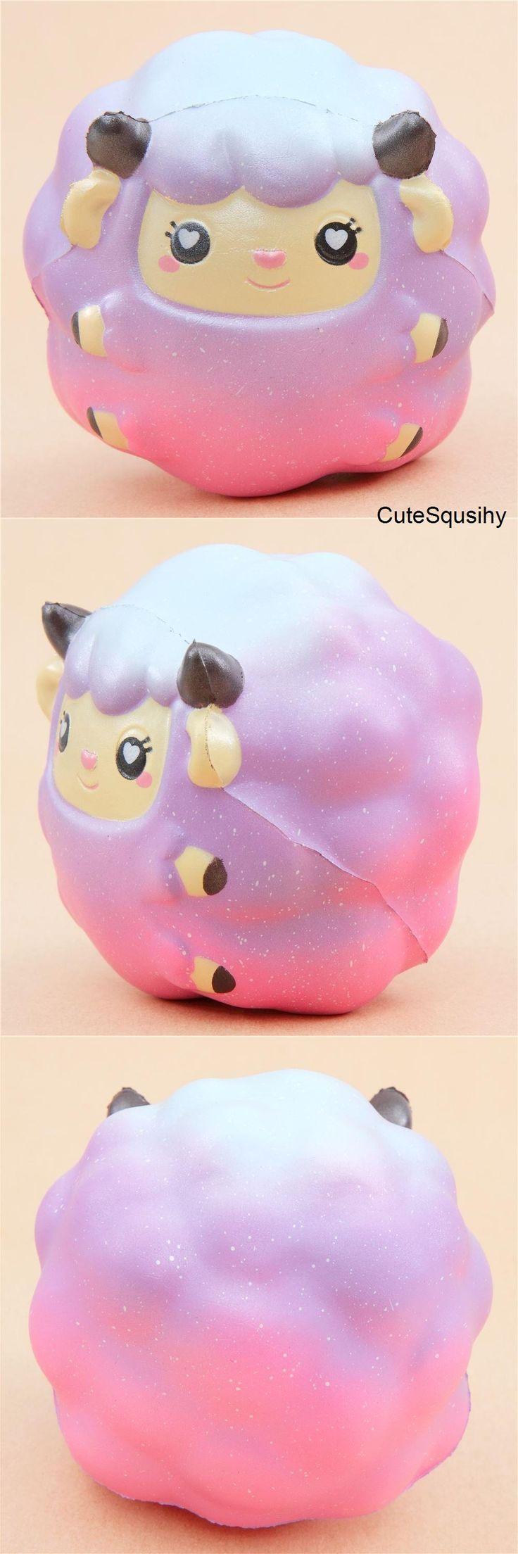 Kawaii purple-pink ombre lamb squishy!