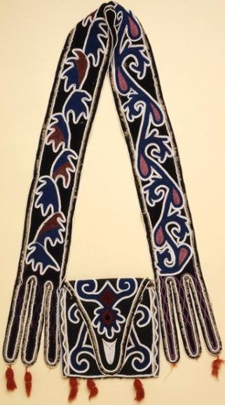 Shawnee Bandolier Bag, collected in St. Louis, 1841