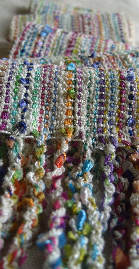 Handwoven Scarf Spring Woven Scarf by barefootweaver on Etsy, $82.00