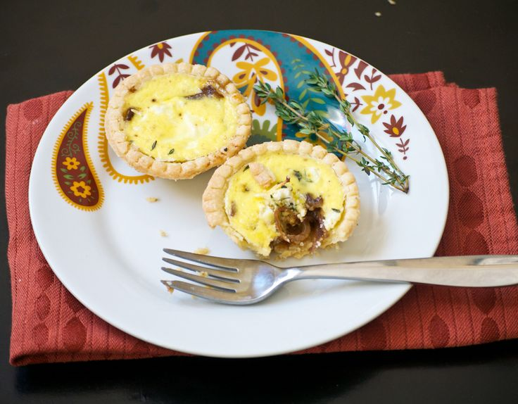 Caramelized Onion & Goat Cheese Tartlet