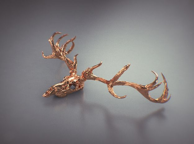 Deer bone head  3d printed