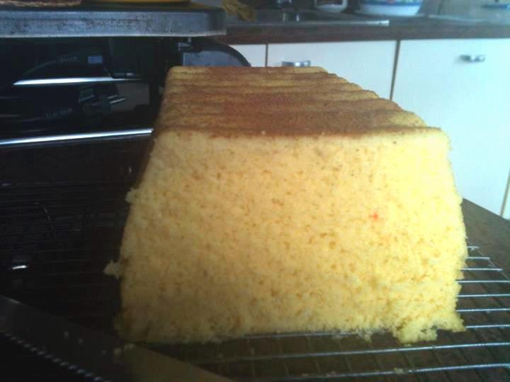 Bizcocho de natillas sin gluten