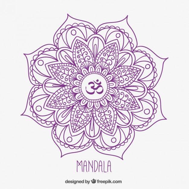 mandala dessinés à la main                                                                                                                                                                                 Plus