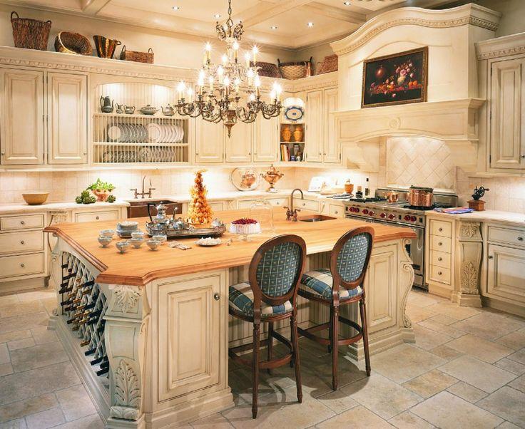 Best French Kitchen Images On Pinterest French Kitchens - Cottage kitchen lighting ideas