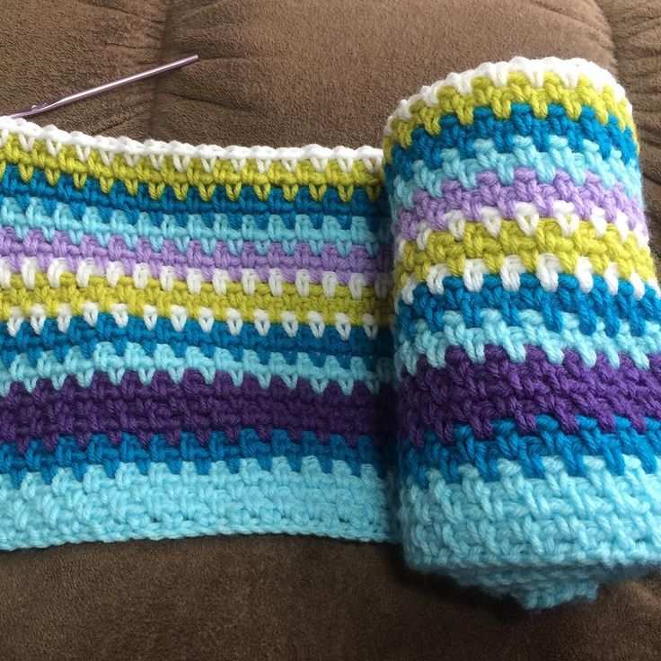 I finally started a temperature blanket for me! This is ...