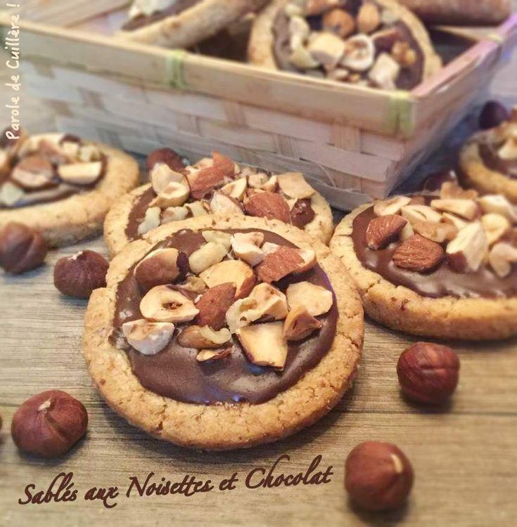 Sablés aux noisettes et au chocolat